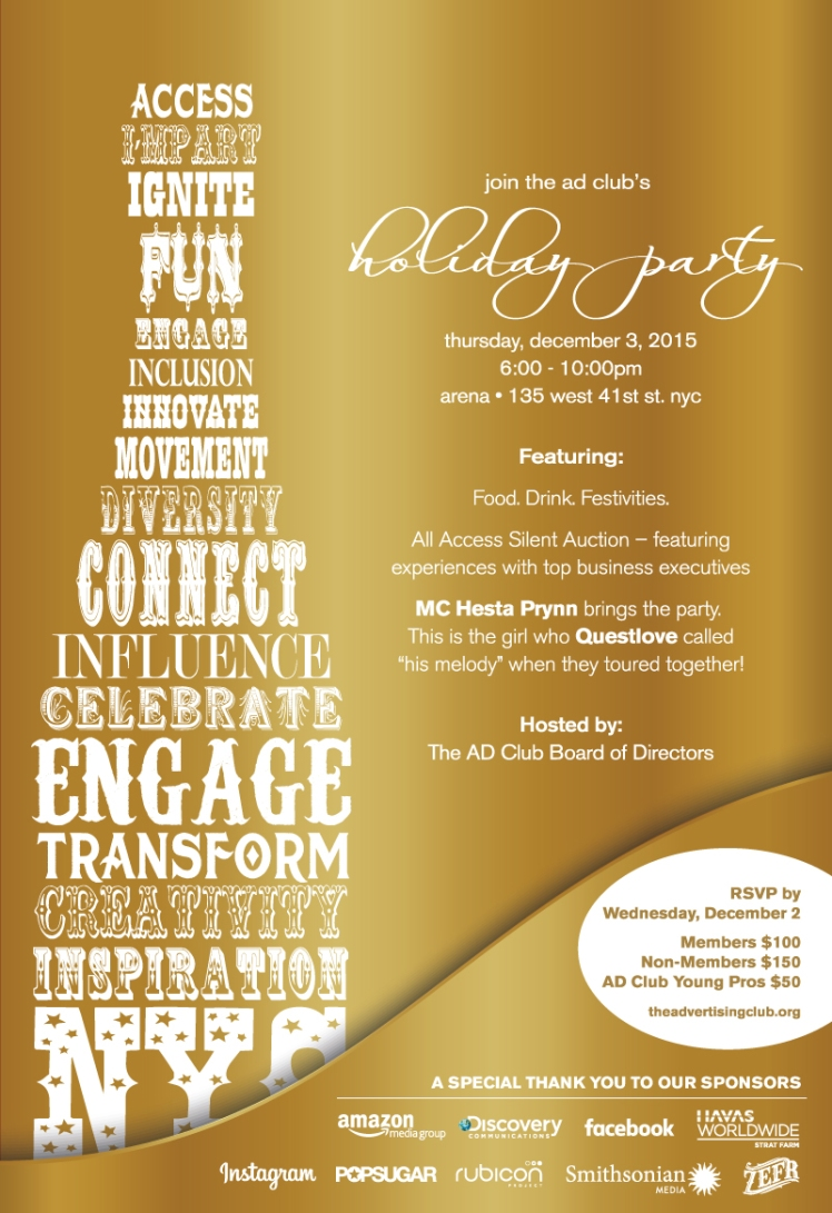 You\'re Invited to The AD Club\'s 8th Annual Holiday Party on Dec. 3rd ...